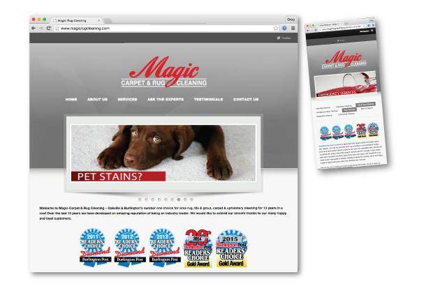 website design oakville - Magic Rug cleaning oakville