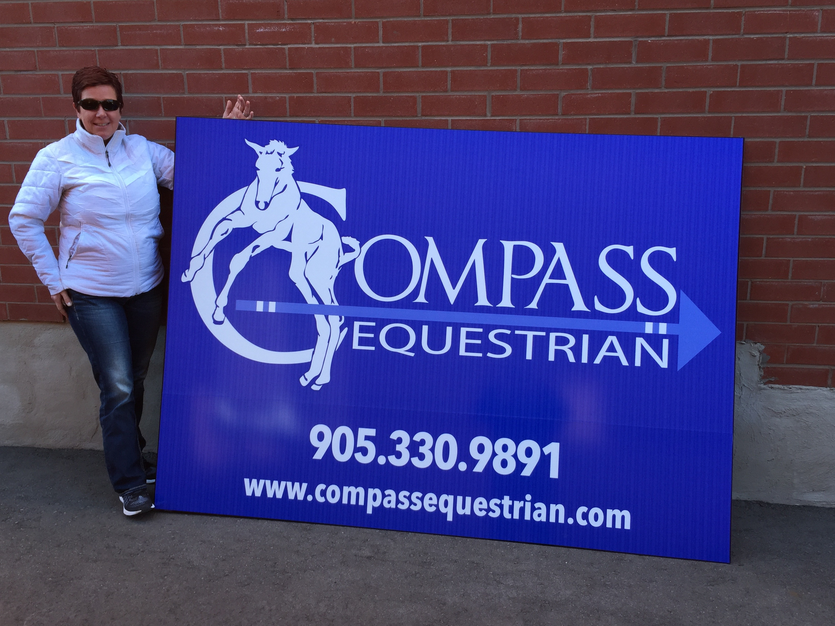 Corporate Signage - Compass Equestrian